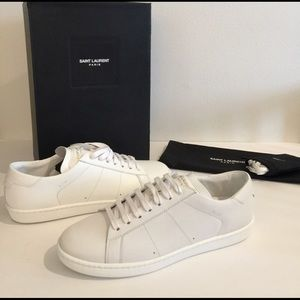 NEW YSL white sneakers